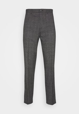 CHECKED TROUSER FLAT FRONT - Stoffhose - grey