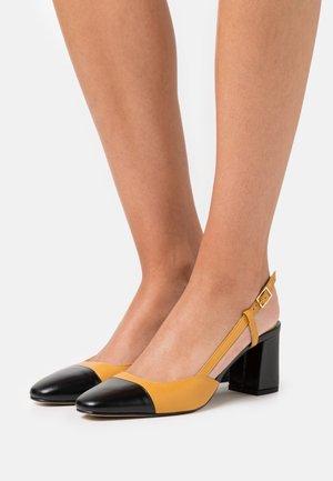 DHAPOP - Classic heels - noir/moutarde