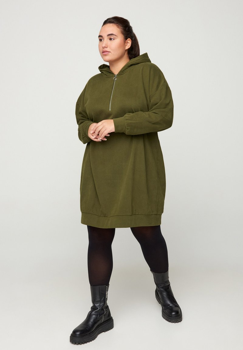 Zizzi - Jersey dress - green