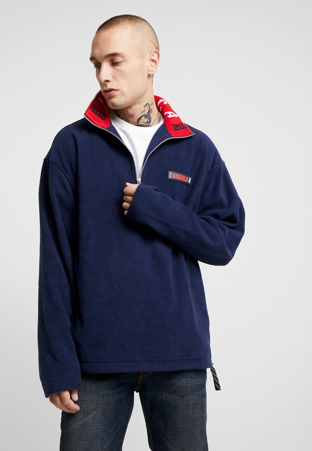 POLAR ZIP MULTI LOGO - Fleece jumper - dark sapphire