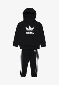 adidas Originals - TREFOIL HOODIE SET - Bluza z kapturem - black/white - 3