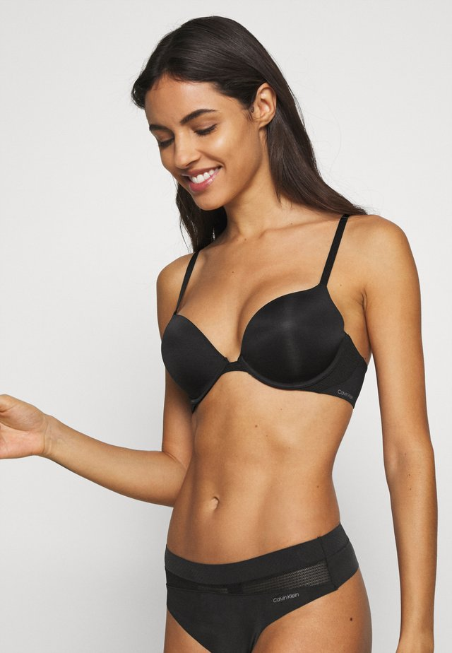 PERFECTLY FIT FLEX PLUNGE - Push-up bra - black