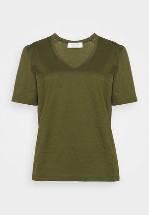 NUDMEG - Basic T-shirt - dark olive