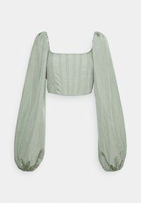 Missguided - BALLOON SLEEVE CORSET  - Long sleeved top - sage - 0