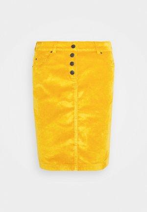 PENCIL SKIRT - Pencil skirt - brass yellow
