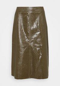 Lovechild - ELOISE SKIRT - Leather skirt - desert palm - 0