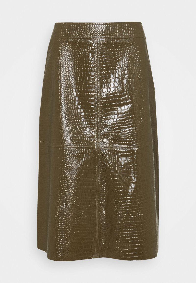 Lovechild - ELOISE SKIRT - Leather skirt - desert palm