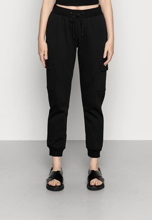 LADIES CARGO PANTS - Tracksuit bottoms - black