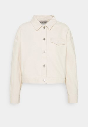 CROPPED JACKET - Kurtka jeansowa - light beige
