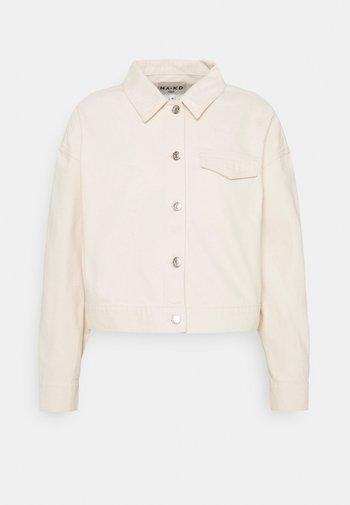 CROPPED JACKET - Denim jacket - light beige