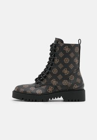 Guess - OXANA - Bottines à lacets - brown/ocra - 1