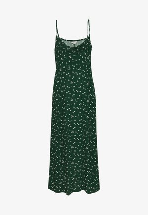 STRAPPY SHIRRED EMPIRE - Maxi-jurk - green