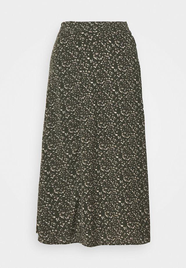 SLFMETHA MIDI SKIRT - A-line skirt - winter moss