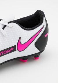 Nike Performance - PHANTOM GT CLUB FG/MG - Kopačky lisovky - white/pink blast/black - 5