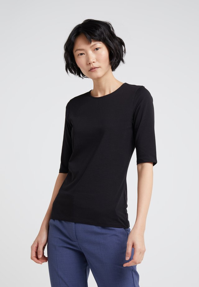 STRETCH ELBOW SLEEVE - Basic T-shirt - black
