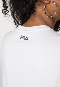 Fila - PURE - T-shirt print - bright white - 4
