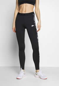 Lotto - VABENE LEGGING  - Leggings - all black/bright white - 0