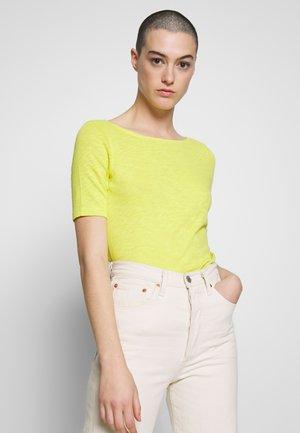 SHORT SLEEVE BOAT NECK - Basic T-shirt - sunny lime