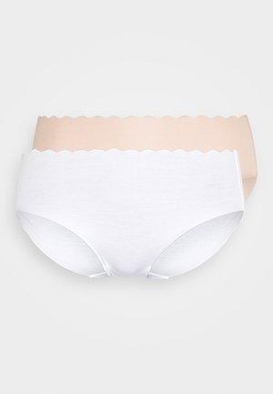 BODY TOUCH HIGH BRIEF 2 PACK - Slip - blanc/new skin