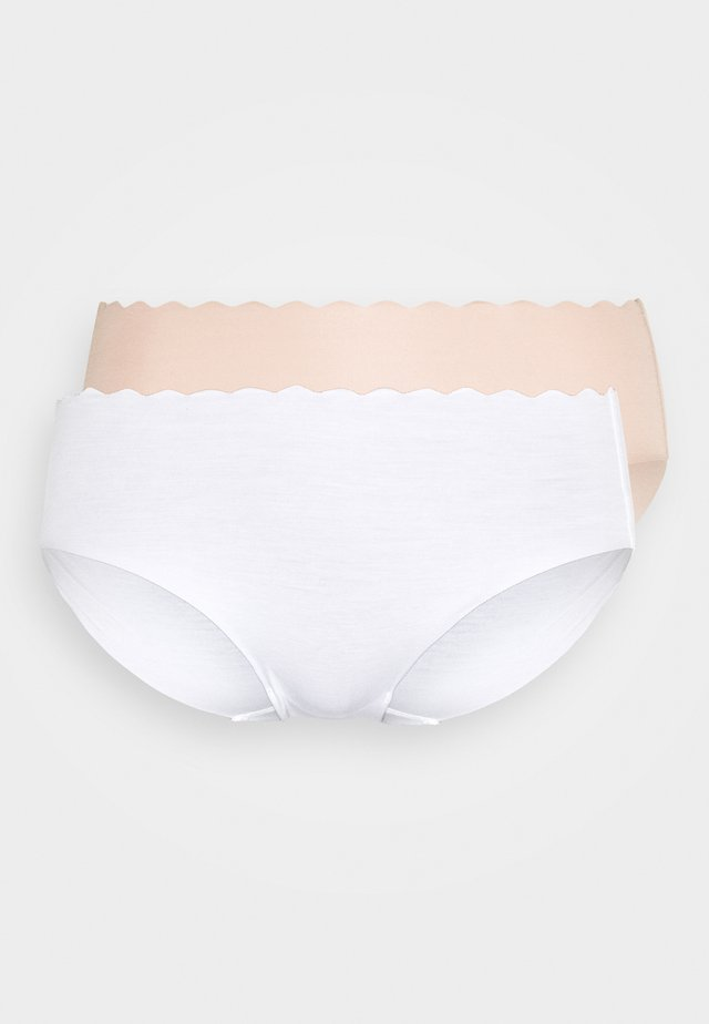BODY TOUCH HIGH BRIEF 2 PACK - Underbukse - blanc/new skin