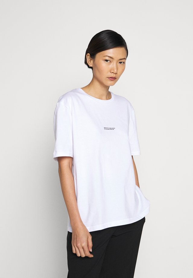 BAND TEE - T-shirt imprimé - white