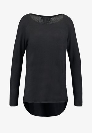 ONLMILA LACY LONG - Pullover - black
