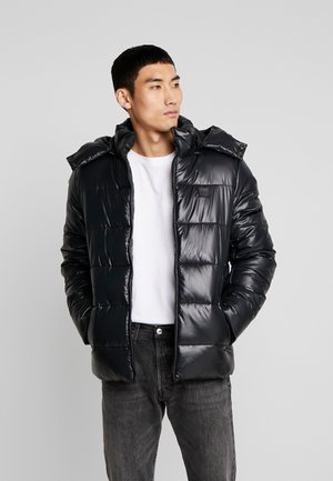 HOODED VANISH PUFFER JACKET - Winter jacket - black