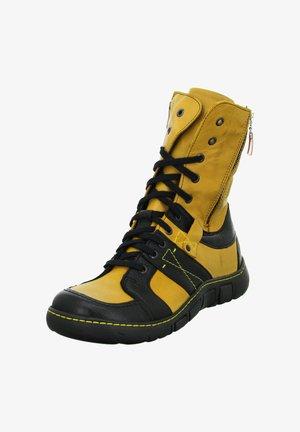 Winter boots - gelb schwarz