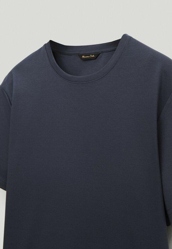 Massimo Dutti T-shirt basic - blue/niebieski Odzież Męska WKET
