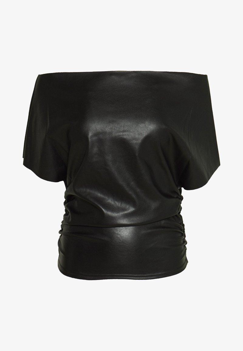 NA-KD - HANNA  SCHÖNBERG X NA-KD ONE SHOULDER - Bluse - black