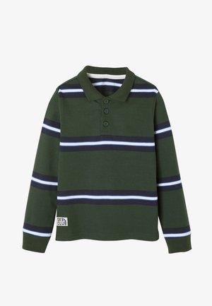 Polo shirt - grün gestreift