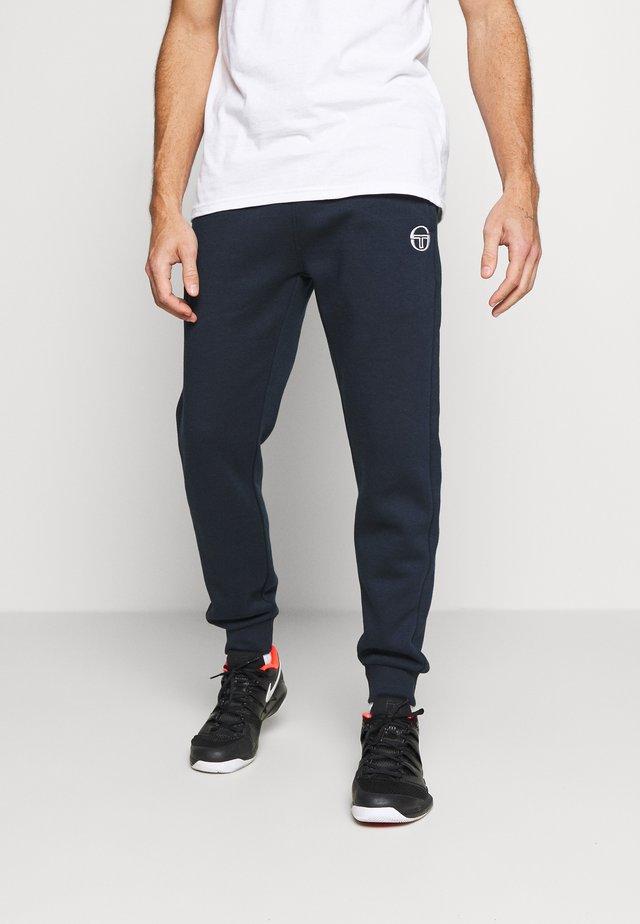 BOLTON PANTS - Teplákové kalhoty - navy/white