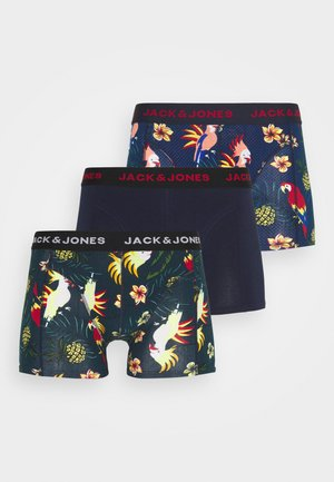 JACCRAZY FLOWER PRINT TRUNKS 3 PACK - Onderbroeken - surf the web/martime blue