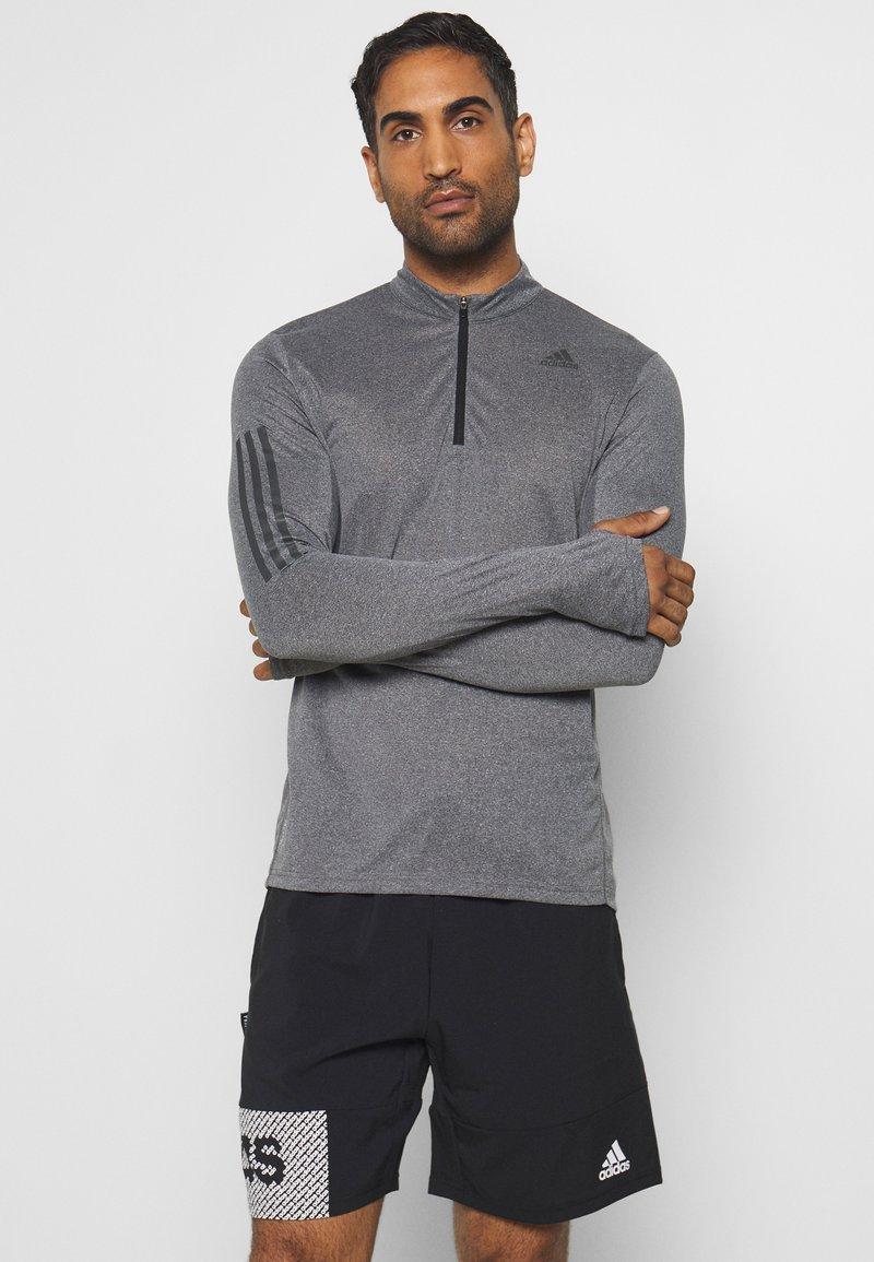 adidas Performance - AEROREADY SPORTS RUNNING LONG SLEEVE - Sports shirt - black/white