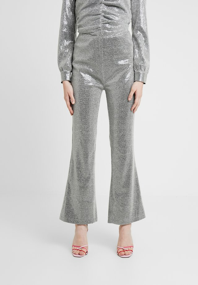 PETRA PANTS - Trousers - silver