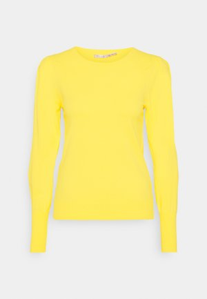 PLEATS SLEEVE - Neule - lemon