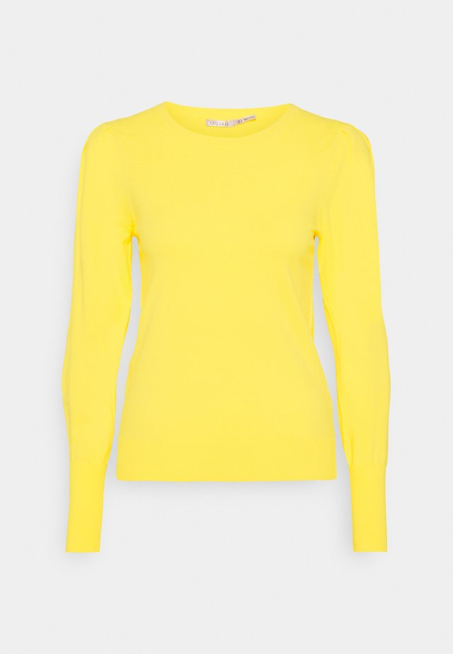PLEATS SLEEVE - Jumper - lemon
