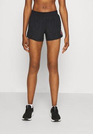 SHORT - Sports shorts - black/hyper pink