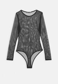 CREW NECK BODYSUIT - Top sdlouhým rukávem - black