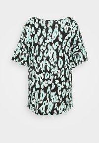 CAPSULE by Simply Be - RUFFLE SLEEVE - T-shirt print - black - 1