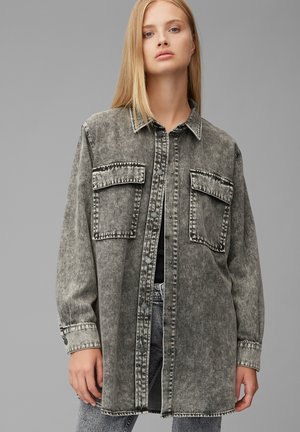 Button-down blouse - multi/dark grey acid