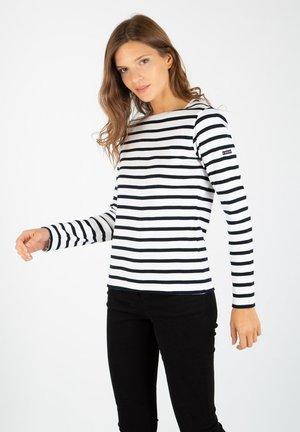 CROZON - Long sleeved top - blanc/rich navy
