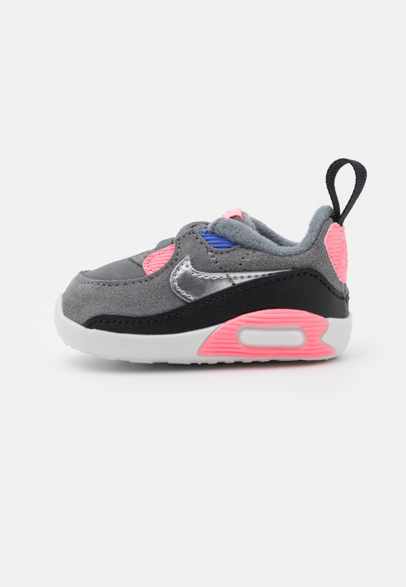 Nike Sportswear - MAX 90 CRIB - First shoes - smoke grey/metallic silver/sunset pulse