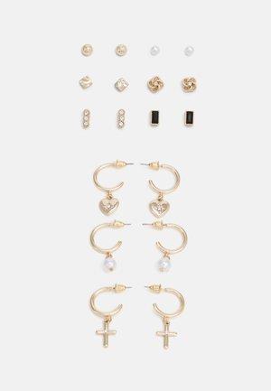 9 PACK - Boucles d'oreilles - gold-coloured