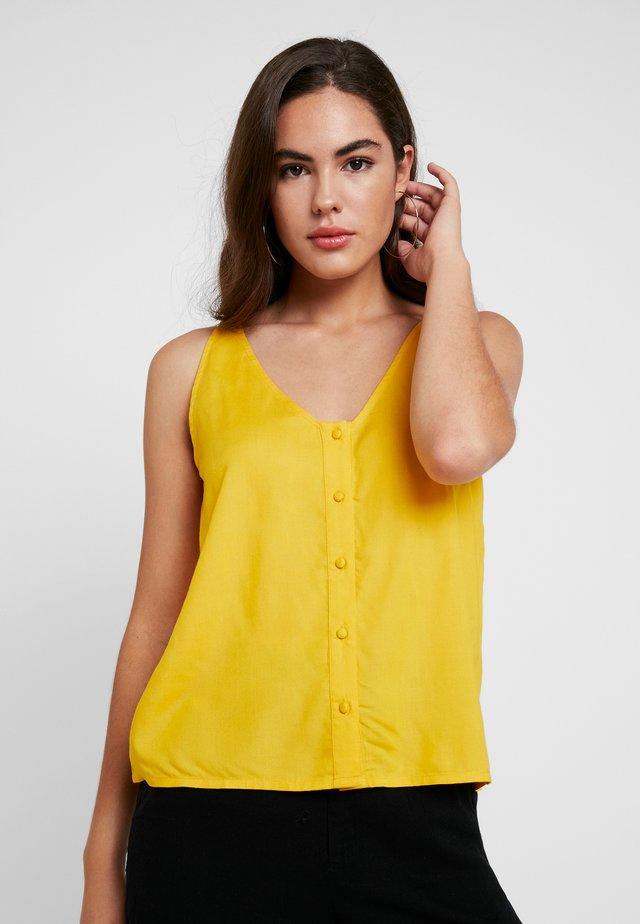Print T-shirt - golden rod