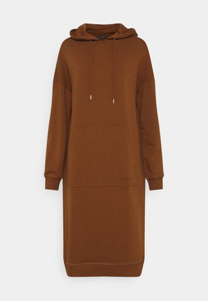 DRESS HOOD - Day dress - toffee brown