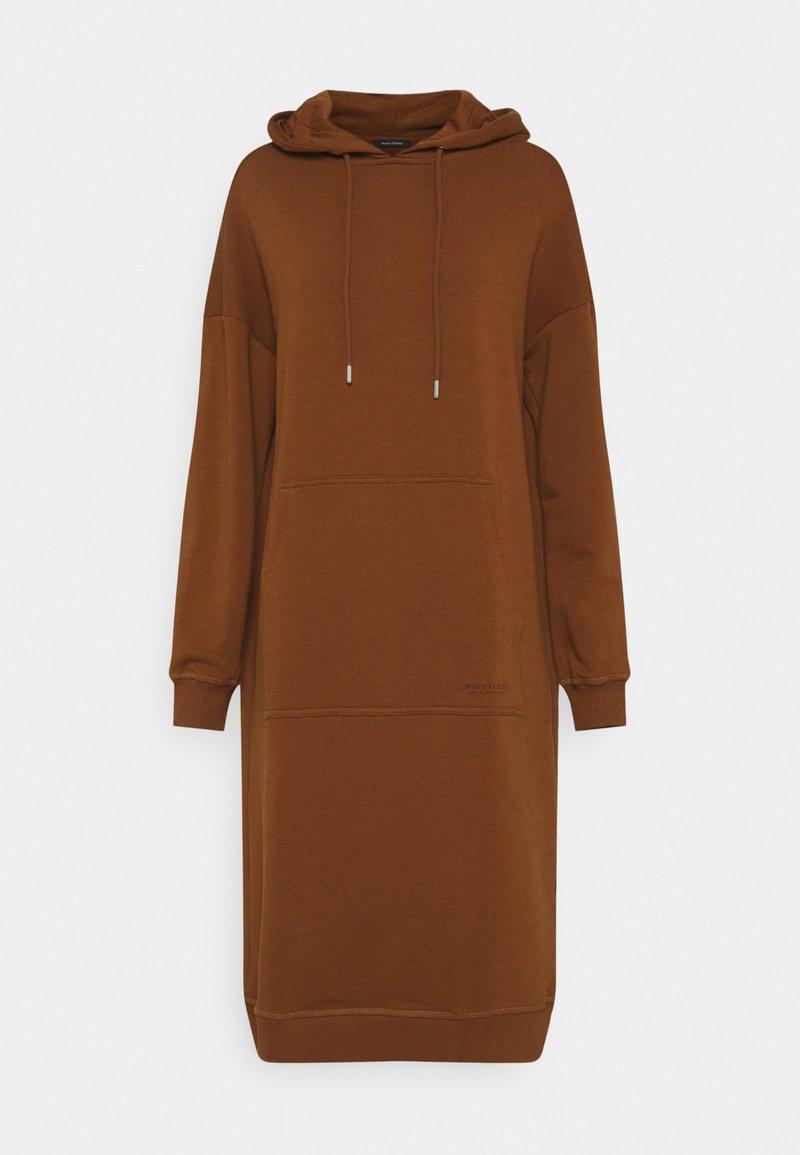 Marc O'Polo - DRESS HOOD - Day dress - toffee brown
