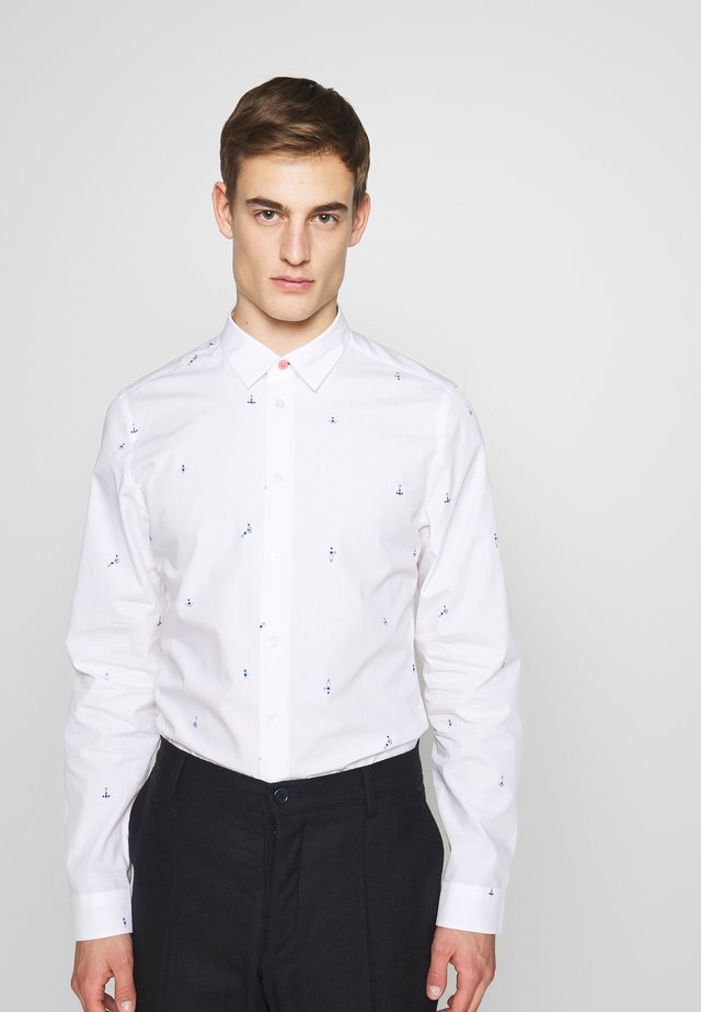 MENS SLIM LS - Shirt - white
