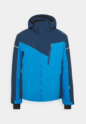 MAN JACKET ZIP HOOD - Skijacke - river