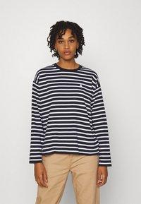 Carhartt WIP - ROBIE  - Long sleeved top - dark navy/white - 0